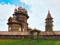 Клуб путешествий Павла Аксенова. Россия. Карелия. Остров Кижи. Kizhi Pogost with Transfiguration Church, Ladoga Lake in Karelia. Фото erix2005-Deposit