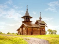 Клуб путешествий Павла Аксенова. Россия. Карелия. Остров Кижи. Kizhi. Old wooden church. Фото ppl1958 - Depositphotos