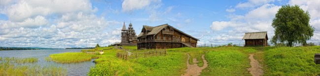 Клуб путешествий Павла Аксенова. Россия. Карелия. Остров Кижи. Rural landscape on a Kizhi Island, Russia. Фото alan64 - Depositphotos