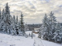 Россия. Карелия. Горный парк Рускеала. Mountain park in winter in Karelia, Russia. Фото TischenkoPhoto - Depositphotos