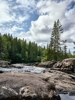 Россия. Карелия. Горный парк Рускеала. Mountain river in the forest, Karelia, Ruskeala. Nature wallpaper. Фото Kovaleva_Ka-Deposit
