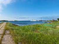 Россия. Соловецкие острова. Beautiful panorama of the pier on the Big Solovetsky island, Arkhangelsk oblast, Russia. Фото svn48-Depositphotos