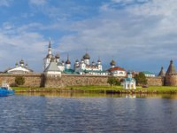 Россия. Соловецкие острова. Solovetsky Monastery is a fortified monastery located on the Solovetsky Islands in the White Sea. White sea. Фото borisb17-Deposit