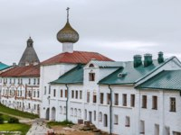 Solovetsky Monastery is a fortified monastery located on the Solovetsky Islands in the White Sea.The Gateway Church of the Annunciation. Фото borisb17-Deposit