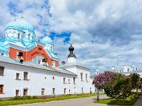 Карелия. Валаамский монастырь. Valaam Monastery of Karelia in Russia. It is situated on an island on Lagoda Lake. Фото erix2005-Depositphotos