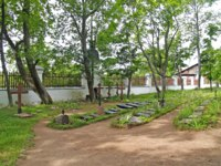 Карелия. Валаамский монастырь. Territory of the old brotherly cemetery. Valaam Spaso-Preobrazhensky. Фото vodolej-Depositphotos