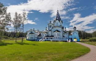 Карелия. Остров Валаам. Владимирский скит. St. Vladimir Cathedral of the Valaam Orthodox Savior-Transfiguration Monastery, Ladoga lake, Фото A_Mikhail-Deposit