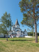 Карелия. Остров Валаам. St. Vladimir's skit. The wonderful island Valaam is located on Lake Lodozhskoye, Karelia. Фото GeneralSky-Depositphotos