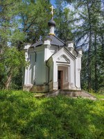 Карелия. Остров Валаам. Chapel of the Cross of suffering. Valaam Savior-Transfiguration Monastery. Ladoga lake. Karelia. Russia. Фото A_Mikhail-Depositphotos