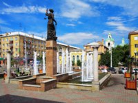 Россия. Красноярск. VFountain Themis in Krasnoyarsk, Russia. Фото markovskiy - Depositphotos