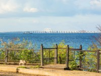Россия. Керчь. Крымский мост. Crimean bridge on the Black Sea and the Sea of Azov through the Kerch Strait. Фото IrinaDance - Depositphotos