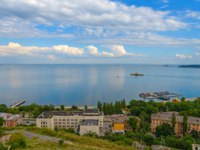 Россия. Крым. Город-герой Керчь. The Kerch Bay, the view from the top of mount Mithridates. Фото Yurriy - Depositphotos