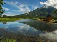Россия. Камчатка. Khodutkinskiye hot springs at the foot of the volcano Priemysh. South Kamchatka Nature Park. Фото yykkaa -Depositphotos
