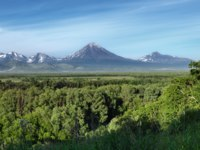 Россия. Камчатка. Avachinsky-Koryaksky Group of Volcanoes. Kamchatka Region, Russian Far East, Eurasia. Фото petropavlovsk - Depositphotos