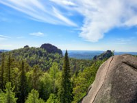 Россия. Красноярские столбы. Rock complex-Stolby Nature Sanctuary (The Pillars). Krasnoyarsk region. Russia. Фото zhaubasar - Depositphotos