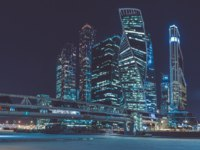 Россия. Москва-сити. View of the International Business Center Moscow City from the Taras Shevchenko Embankment. Фото brunocoelhopt - Depositphotos