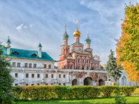 Россия. Москва. Новодевичий монастырь. The Gate Church and the wall of the Novodevichy Convent. Moscow. Russia. Фото De_Gor-Depositphotos