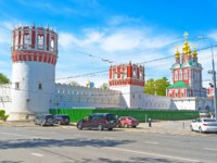 Россия. Москва. Новодевичий монастырь. Beautiful medieval Novodevichy Convent with unusual towers in Moscow. Russia. Фото efesenko-Depositphotos
