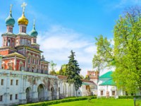 Россия. Москва. Новодевичий монастырь. The Gate Church of the Intercession dominates over other buildings of Novodevichy Convent in moscow. Фото efesenko-D