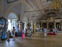 Россия. Москва. Новодевичий монастырь. Interior of the assumption Church . Novodevichy Bogoroditse-Smolensky monastery-Orthodox convent in Moscow on D
