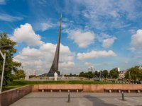 Россия. Москва. Аллея космонавтов. Conquerors of Space Monument in the park of Cosmonautics museum, near VDNKh. Moscow. Фото eevl-Depositphotos