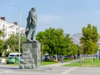 Россия. Новороссийск. Monument to the Unknown Sailor was opened in 1961. Novorossiysk, Krasnodar Krai, Russia. Фото oknebulog - Depositphotos