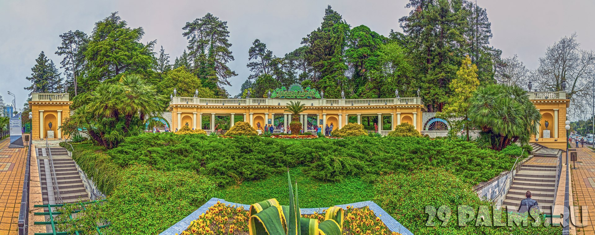 Россия. Сочи. Парк Дендрарий. Panoramic of entrance to the Arboretum. Sochi, Russia. Фото Sivenkov - Depositphotos