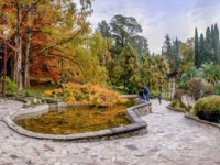 Россия. Сочи. Парк Дендрарий. The most beautiful place in the Arboretum's Japanese garden. Sochi, Russia. Фото Sivenkov - Depositphotos