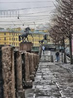 Россия. Санкт-Петербург. Аничков мост. Кони Клодта. Klod's horses on Anichkov bridge, Saint Petersburg, Russia. Фото avstraliavasin-Depositphotos