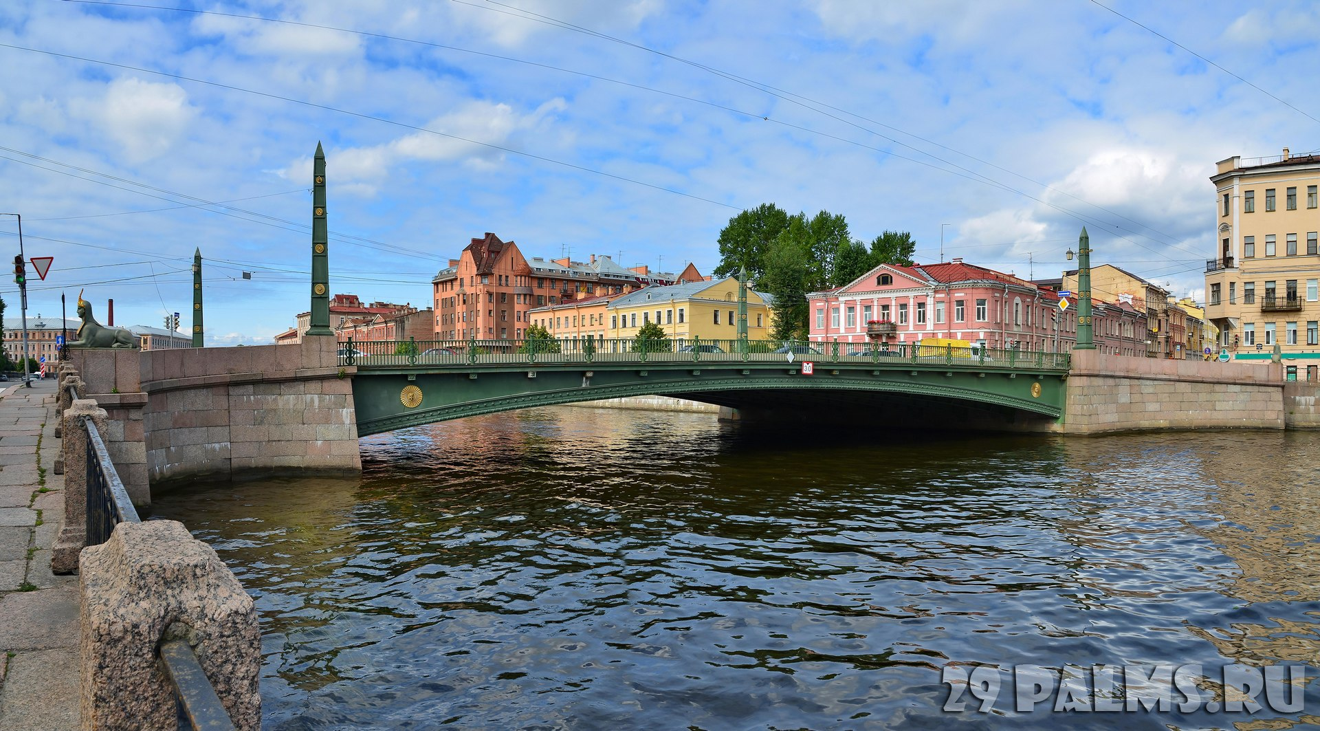 Россия. Санкт-Петербург. Египетский мост через Фонтанку. View of the Egyptian Bridge with the Fontanka River Embankment. St.Petersburg. Фото s_garmashov-Dep
