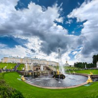 Россия. Санкт-Петербург. Фонтаны Петергофа. Grand cascade in Pertergof, Saint-Petersburg, Russia. Фото Sergieiev - Depositphotos