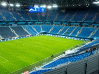 Stadium St. Petersburg Arena where the matches of the FIFA World Cup 2018 and the European Football Championship 2020. St. Petersburg. Фото qwer-Deposit