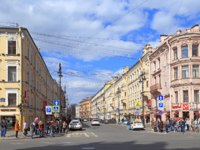 Клуб Павла Аксенова. Россия. Санкт-Петербург. Невский проспект. View of Mayakovsky Street from Nevsky Avenue in St. Petersburg. Фото Nadym-Depositphotos