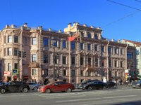 Old Buildings Located Downtown Petersburg RussiaYakovlev House Facade Nevsky Prospect. St. Petersburg. Russia. Фото Nadym-Depositphotos