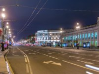Клуб Павла Аксенова. Россия. Санкт-Петербург. Невский проспект. Movement Night Nevskiy Prospekt Sankt Peterburg Timelapse. Фото neiezhmakov-Deposit