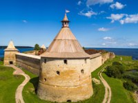 Крепость Орешек (Шлиссельбург). The fortress of nutlets. Cities of Russia. The Museum of St. Petersburg. Ladoga lake. Фото GrinPhoto - Depositphotos