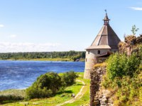 Крепость Орешек (Шлиссельбург). Oreshek fortress is an ancient Russian fortress. Фото blinow61 - Depositphotos