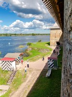 Крепость Орешек (Шлиссельбург). Historical fortress Oreshek is an ancient Russian fortress. Фото blinow61 - Depositphotos