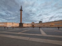 Россия. Санкт-Петербург. Панорама Дворцовой площади. Panorama of the Palace Square. St. Petersburg. Russia. Фото stan0207 - Depositphotos