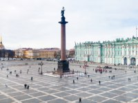 Россия. Санкт-Петербург. Панорама Дворцовой площади. Panorama of the Palace Square. St. Petersburg. Russia. Фото vvoennyy - Depositphotos