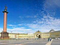 Россия. Санкт-Петербург. Панорама Дворцовой площади. Panorama of the Palace Square. St. Petersburg. Russia. Фото Ivantagan - Depositphotos