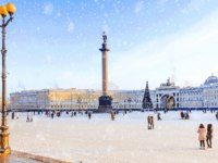Россия. Санкт-Петербург. Панорама Дворцовой площади. Panorama of the Palace Square. St. Petersburg. Russia. Фото deb-37 - Depositphotos