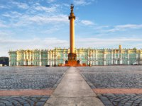 Россия. Санкт-Петербург. Панорама Дворцовой площади. Panorama of the Palace Square. St. Petersburg. Russia. Фото TTstudio - Depositphotos