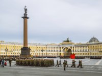 Россия. Санкт-Петербург. Панорама Дворцовой площади. Panorama of the Palace Square. St. Petersburg. Russia. Фото toshket - Depositphotos