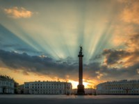 Россия. Санкт-Петербург. Панорама Дворцовой площади. Panorama of the Palace Square. St. Petersburg. Russia. Фото sobioru - Depositphotos