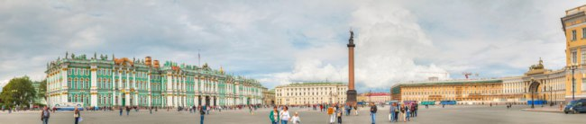 Россия. Санкт-Петербург. Панорама Дворцовой площади. Panorama of the Palace Square. St. Petersburg. Russia. Фото AndreyKr - Depositphotos