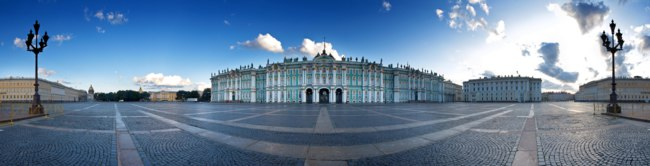 Россия. Санкт-Петербург. Панорама Дворцовой площади. Panorama of the Palace Square. St. Petersburg. Russia. Фото nidhogg - Depositphotos