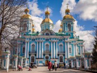 Россия. Санкт-Петербург. Никольский морской собор. The St. Nicholas Naval Cathedral. St. Petersburg, Russia. Фото zx6r92 - Depositphotos