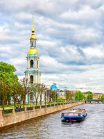 Россия. Санкт-Петербург. Никольский морской собор. The St. Nicholas Naval Cathedral. St. Petersburg, Russia. Фото magone - Depositphotos