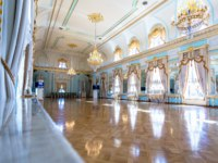 ГК Дворец конгрессов в Стрельне. Konstantinovsky Palace (Federal Palace of Congresses) in Strelna. Interior one of the halls of Palace. Фото blinow61 - Depositphotos